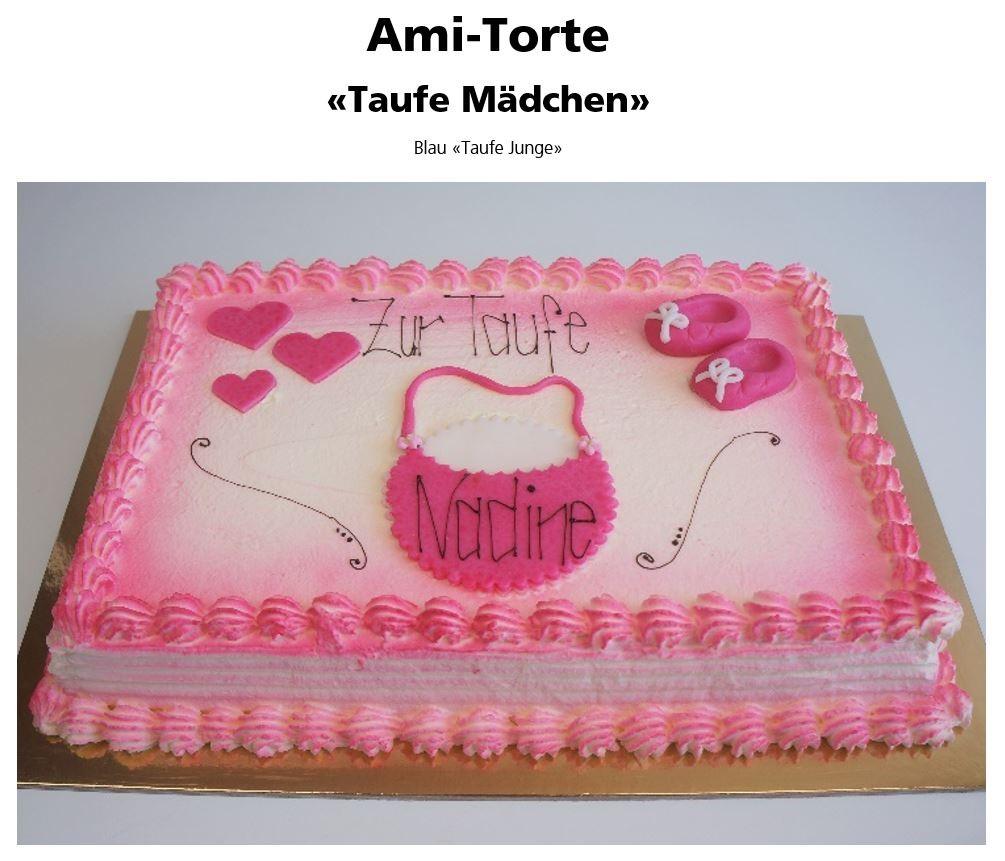 Torten und patisserie grosses sortiment felber beck - Torte zur taufe junge ...